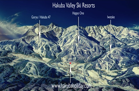 Hakuba Map Text Flat